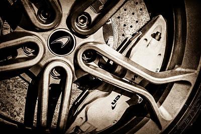 Photograph - Mclaren Wheel Emblem -0082s by Jill Reger
