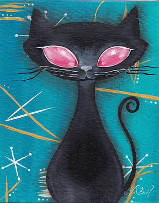 Pop Surrealism Painting - Mcm Cat II by Abril Andrade Griffith