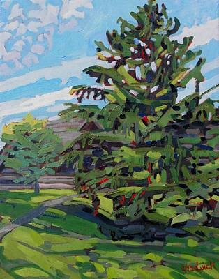 Signe Painting - Mcmichael Spruce by Phil Chadwick