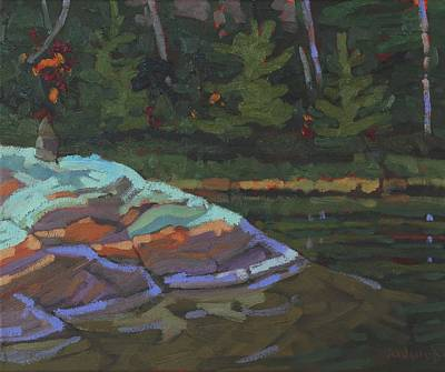 Reflections Of Shadows Painting - Mcnabb Point by Phil Chadwick