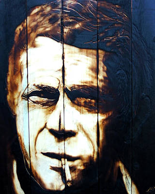 Steve Mcqueen Art Painting - Mcqueen by Mark Mahorney