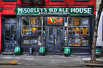 City Scenes Royalty-Free and Rights-Managed Images - McSorleys  in Color by Randy Aveille