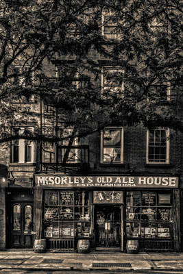 Photograph - Mcsorley's Old Ale House Nyc Bw by Susan Candelario
