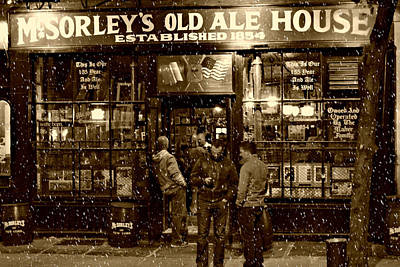 Snow Photograph - Mcsorley's Old Ale House by Randy Aveille