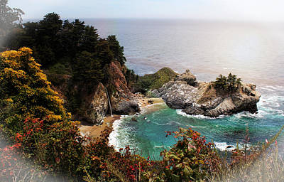 Photograph - Mcway Falls Enhanced by Judy Vincent