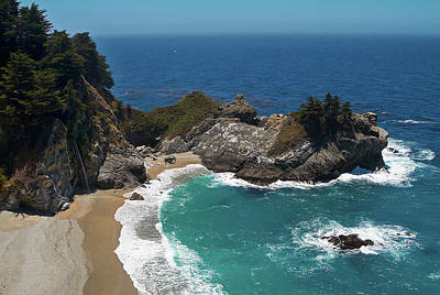 Photograph - Mcway Falls In Big Sur by Charlene Mitchell