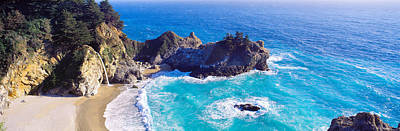 Mcway Falls, Mcway Cove, Julia Pfeiffer Art Print by Panoramic Images