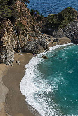 Photograph - Mcway Falls On The Pacific Coast Highway  by Willie Harper