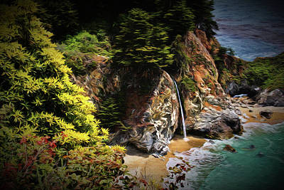 Photograph - Mcway Falls Painting by Judy Vincent