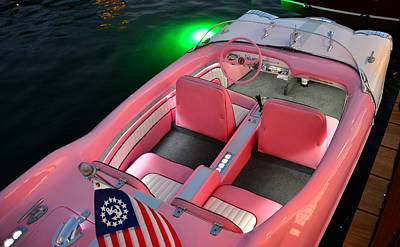 Photograph - 1956 Pink Meteor Runabout by David Lee Thompson
