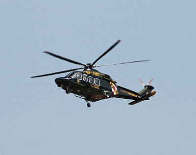 Photograph - Md State Police Helicopter by Robert Banach