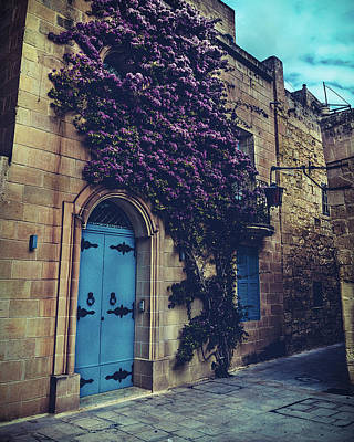 Art Print featuring the photograph Mdina Flowers by Nisah Cheatham