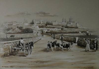Painting - Mdina  Road by Tony Calleja