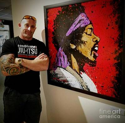 Painting - Me And Jimi by Chris Mackie