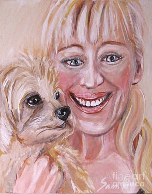 Painting - Me And Little Miss Molly. Acrylic by Oksana Semenchenko