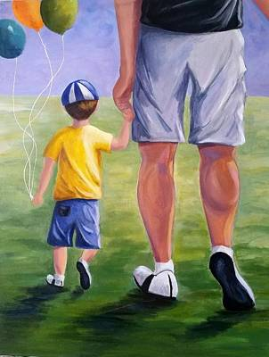 Painting - Me And My Dad by Rosie Sherman