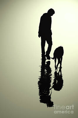 Rescued Greyhound Digital Art - One Man And His Dog by Kate Sadler