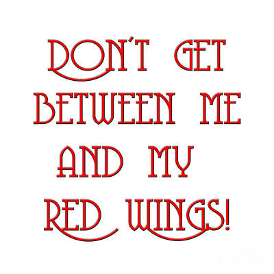 Digital Art - Me And My Red Wings 1 by Andee Design
