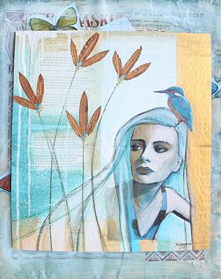 Me And The Kingfisher Original by Johanna Virtanen