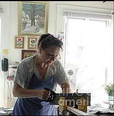 Photograph - Me At Work by Anna Folkartanna Maciejewska-Dyba