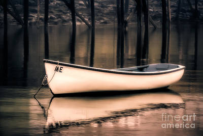 Rowboat Digital Art - Me Dinghy by Jerry Fornarotto
