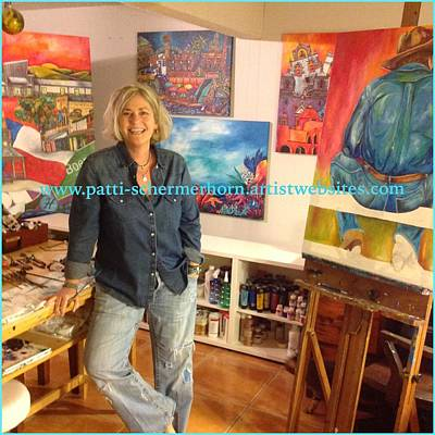 Painting - Me In The Studio by Patti Schermerhorn