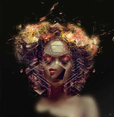 Me Inside Of Me Art Print by Bojan Jevtic