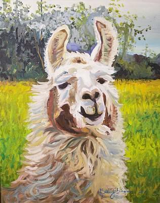 Llama Drawing - Me Llama Biffitch by Heidi Steinman