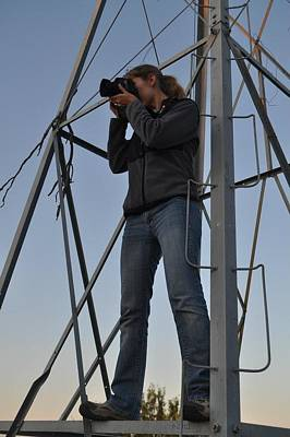 Photograph - Me Shooting From The Windmill by Amber Kresge