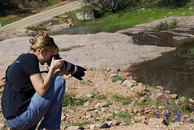 Photograph - Me Shooting In Texas Hill Country by Amber Kresge