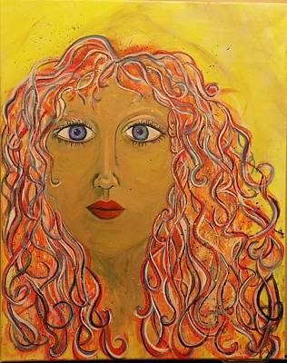 Acryllic Painting - Me by Susan Perlman