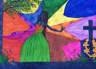 Molecule Painting - Me- The Universe. by Tejsweena Renu Krishan