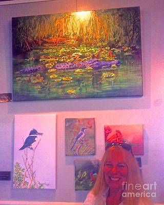 Me With Gator Pod Painting Art Print by AnnaJo Vahle