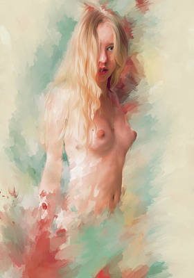 Eroticism Digital Art - Mea Culpa by Psychonaut Brush