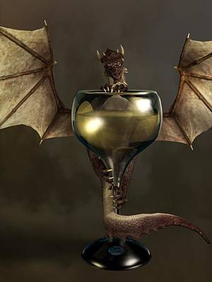 Mead Dragon Art Print by Daniel Eskridge