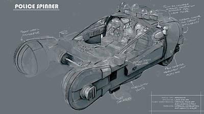 Digital Art - Mead Industries' Spinner by Kurt Ramschissel