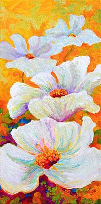 Red Poppy Painting - Meadow Angels - White Poppies by Marion Rose