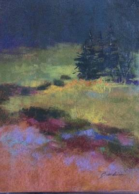 Painting - Meadow At Dusk by Janet Biondi