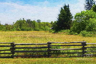 Photograph - Meadow Behind A Split-rail Fence by Les Palenik