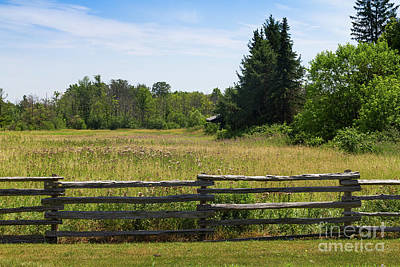 Photograph - Meadow Behind Split-rail Fence by Les Palenik