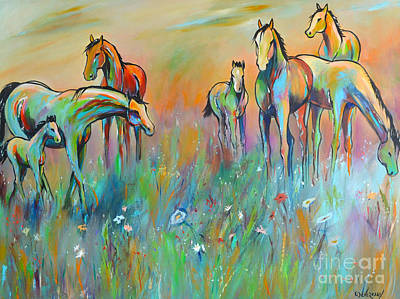 Painting - Meadow by Cher Devereaux