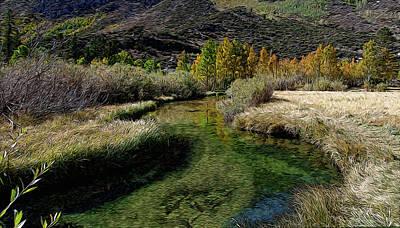 Meadow Creek Art Print by Eastern Sierra Gallery