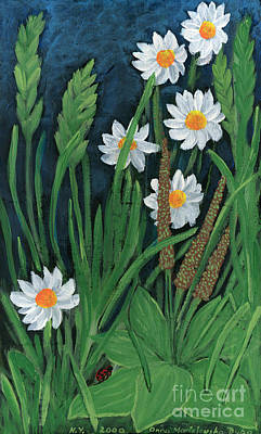 Folkartanna Painting - Meadow Flowers by Anna Folkartanna Maciejewska-Dyba