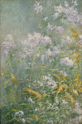 Painting - Meadow Flowers. Golden Rod And Wild Aster by John Henry Twachtman