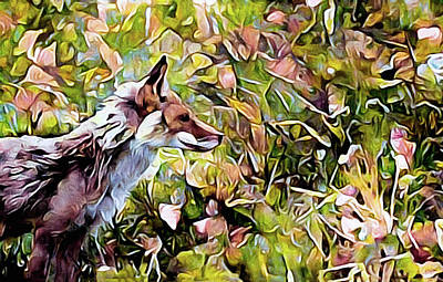 Mixed Media - Meadow Fox by Susan Maxwell Schmidt