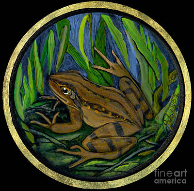 Folkartanna Painting - Meadow Frog by Anna Folkartanna Maciejewska-Dyba