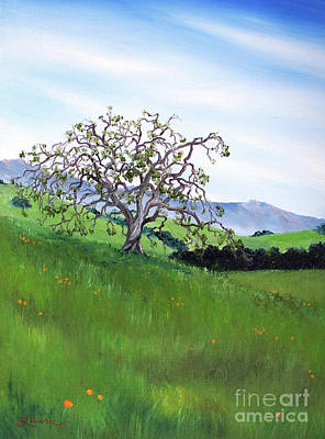 California Poppies Painting - Meadow In Early March by Laura Iverson