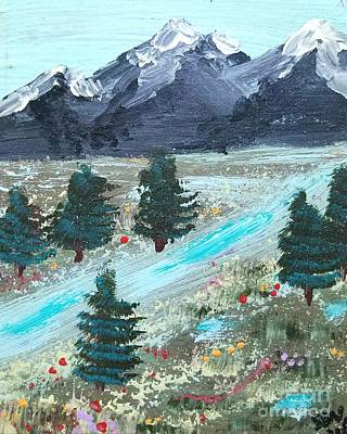 Ice Climbing Painting - Meadow In The Mountains by Scott D Van Osdol