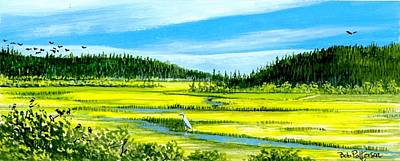 Washington State Skagit County Painting - Meadow In The Spring by Bob Patterson
