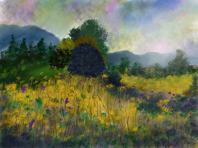 Painting - Meadow Land by Dick Bourgault